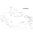 Outline Caribbean map