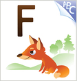 Animal alphabet for the kids F for the Fox vector image vector image