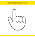 attention hand gesture linear icon vector image