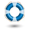 blue Life Buoy vector image