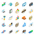 call icons set isometric style vector image vector image