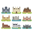 Castle cartoon set vector image vector image