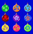 christmas colorfull toys set vector image vector image