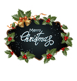 Christmas frame with decoration vector image vector image