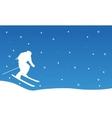 Christmas landscape people ski collection vector image vector image