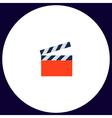 clap board computer symbol vector image vector image
