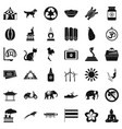 clever elephant icons set simple style vector image vector image