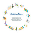 clothing store interior with furniture banner card vector image vector image