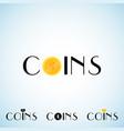 coins logo template vector image