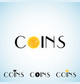 coins logo template vector image vector image