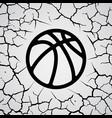 cracks circle basketball vector image vector image