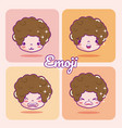 cute boy emojis vector image