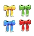 Cute colorful bows set isolated on white vector image vector image