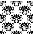 Dainty floral seamless pattern with bold flowers vector image