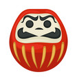 daruma doll japanese symbol isolated lucky statue vector image