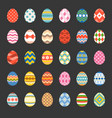 easter eggs set 1 vector image
