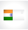 Envelope with Indian flag card vector image vector image