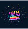 festa junina colorful hat background vector image vector image