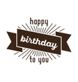 Festive Happy Birthday vector image vector image