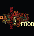 fine food can be easy on the personalized money vector image vector image
