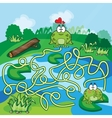 Frogs Maze Game vector image vector image