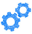 gears grunge icon vector image vector image