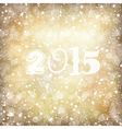 golden 2015 new year card vector image vector image