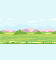 grass field with bushes game background vector image