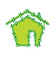 green flower house vector image