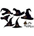 halloween hats vector image