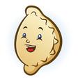 happy smiling pierogi cartoon character vector image vector image