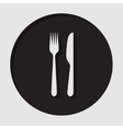 information icon - cutlery fork and knife vector image