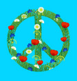 international peace day a sign of the pacific vector image