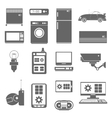 Internet things icons set black vector image vector image