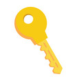 key flat icon security and password vector image vector image