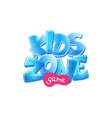 kids zone game room banner design flat cartoon vector image vector image