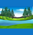lake in nature background vector image vector image