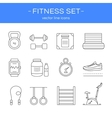 Line icons gym and fitness vector image