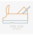 Line working color plane for construction vector image vector image