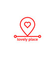 lovely place like red pin pointer vector image vector image