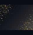 luxury gold christmas star frame elegant design vector image vector image