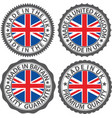 made in uk label set with flag made in the uk vector image vector image