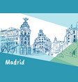 madrid capital spain vector image
