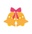 merry christmas celebration jingle bells gift bow vector image vector image