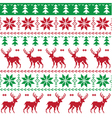 Nordic seamless pattern deer and christmas tree vector image vector image