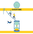 overtime disambiguation abstract concept vector image vector image