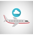 plane travel weather forecast cloud icon vector image