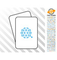 qtum currency cards with bonus vector image vector image