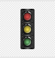 realistic traffic lights isolated background vector image vector image
