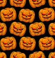 Scary pumpkin seamless pattern Background for vector image vector image